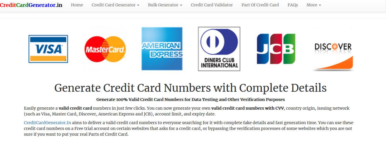 generador de tarjetas de credito con nombre